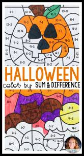Halloween Multiplication Worksheets Coloring by Best 25 Math Coloring Worksheets Ideas On Pinterest Addition