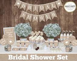 Rustic Bridal Shower Decorations Bachelorette Party Decors Burlap