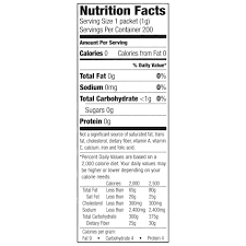 Great Value Sweetener with Sucralose Packets No Calorie 7 oz