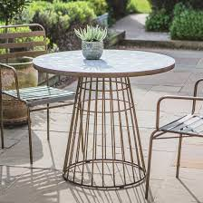 Outdoor Round Metal Table With Mosaic Top Brompton Metal Garden Rectangular Set Fniture Compare 56 Bistro Black Wrought Iron Cafe Table And Chairs Pana Outdoors With 2 Pcs Cast Alinium Tulip White Vintage Patio Ding Buy Tables Chairsmetal Gardenfniture Italian Terrace Fniture Archives John Lewis Partners Ala Mesh 6seater And Bronze Home Hartman Outdoor Products Uk Our Pick Of The Best Ideal Royal River Oak 7piece Padded Sling Darwin Metal 6 Seat Garden Ding Set
