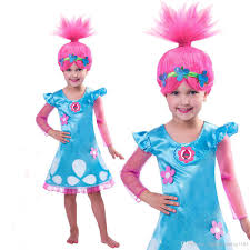 2017 christmas costumes for girls trolls party dress kids dresses