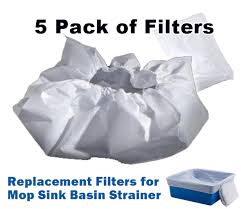 filters for mop sink basin strainer 5 pack drain net technologies