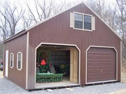 Amish Built Sheds and Garages are Delivered Fully Assembled