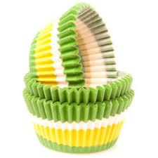 Gygi Green White Swirl Baking Cups 50 Ct