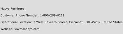Macys Furniture Customer Service Phone Number
