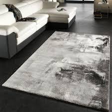 teppich saunders in grau schwarz weiß