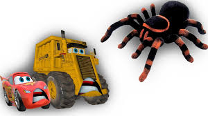 100 Tarantula Trucks Giant Caught Colossus Mater Kids Rymes YouTube