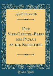 Der Erste Brief Des Paulus An Die Korinther Christian Wolff