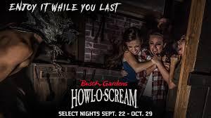 Halloween Busch Gardens by Busch Gardens Howl O Scream Q105