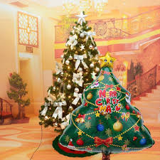 Big Size Christmas Tree Foil Balloon Kids Toys For Home Living Room Party Decor 22x29 Large Ornaments Cheap Looking Decorations From