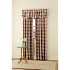 Kmart Kitchen Window Curtains by Country Living Casual Plaid Window Panel