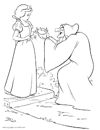 Old Hag And Snow White Disney Printable Coloring Pages
