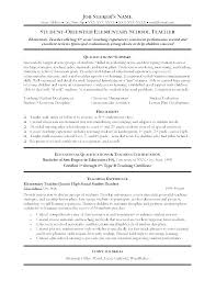 Fresher Teacher Resume Sample Of Teachers Example