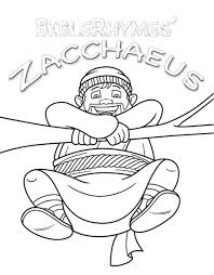 Zacchaeus Story Coloring Book Printable
