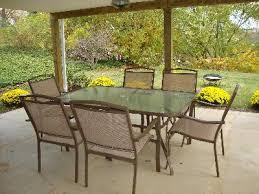 Mainstay Patio Furniture Company by Mainstays Sand Dune 7 Piece Patio Dining Set Seats 6 Walmart Com