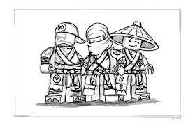 Lego Ninjago Coloring Pages Free Printable Color Sheets With Ninja