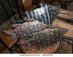 Handicraft Metal Made Fish At Delhi Haat