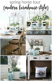 And Cheerful Spring Home Decor Farmhouse Dining Room Ating Ideas The Rustic Boxwood Diy Jpg