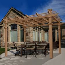 Lowes Canada Deck Tiles by Decorating Wonderful Home Exterior With Exciting Pergola Lowes