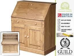 oak writing bureau furniture solid pine oak painted writing bureau s