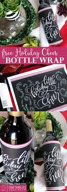 Free Holiday Printable Bottle Wrap Christmas