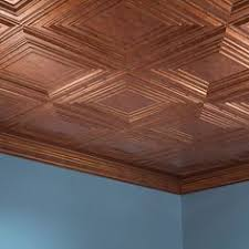 Fasade Glue Up Decorative Thermoplastic Ceiling Panels by Fasade 2 Foot Square Lay In Decorative Thermoplastic Ceiling