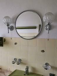bad spiegel 2 len 2 gläser halter seifen ablage 50er 60er 70er
