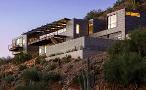 Concrete, Glass And Steel Structure Hovers Above Arizona Desert ... The Glitz And Glamour Of Vegas Is Alive In The Tresarca House Marmol Radziner Desert Home Design Concrete Glass Steel Structure Hovers Above Arizona Desert This Modern Oasis By Hazelbaker Rush Perched On A Modern Kit Homes For Small Adobe Plans Types Landscaping Ideas Hgtv Wing Kendle Archdaily Minecraft Project Pinterest Sale Renowned Architect