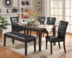 Decatur 6 Piece Dining Set With Marble Tabletop And Upholstered Dining  Bench By Homelegance At Lindy's Furniture Company