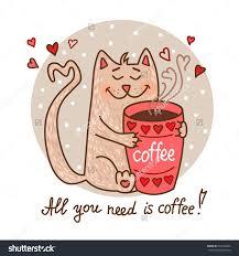 Drawn Coffee Cute Cartoon 2