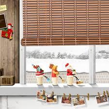 Amazoncom Natural Bamboo Roll Up Window Blind Roman Shade Sun