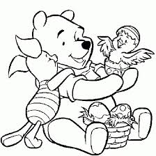 Winnie The Pooh Disney Easter Coloring Pages