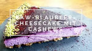 blaubeer cheesecake mit cashews