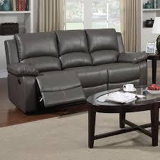 canap cuir gris canape cuir 3 places relax manuel gris sofamobili