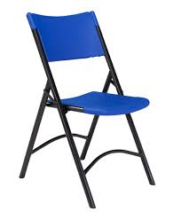 100 Blue Plastic Folding Chairs NPS 600 Series Heavy Duty Chair Pack Of 4