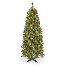 7 Pre Lit Bronson Quick Set Cashmere Pine Tree W Rotating Stand