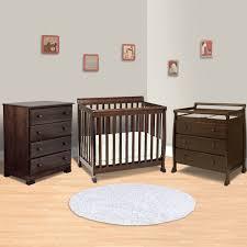 da vinci 3 piece nursery set kalani mini crib 3 drawer changing