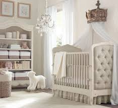 A Posh Neutral Color Nursery With White And Grey Decor