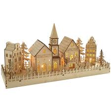 Pre Lit Slim Christmas Tree Asda by 3 Piece Laser Cut Wood Village Kitsch Laser Cutting And Crates