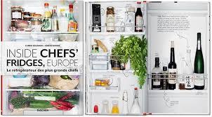 livres cuisine livres de cuisine dans le frigo des chefs européens