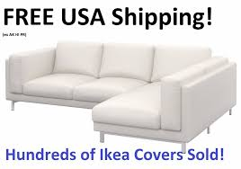 ikea nockeby loveseat with chaise right cover slipcover risane