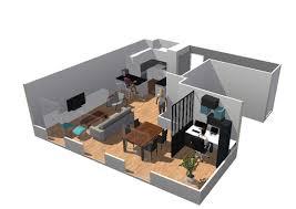 idee cuisine ouverte sejour créer un bureau dans sejour salon cuisine ouverte