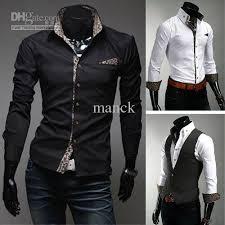 Mens Casual Shirt Designer Men White Dress For MS274