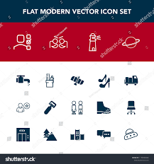 Modern Simple Vector Icon Set Truck Stock Vector (Royalty Free ...