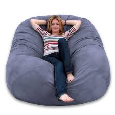 Amazon.com: Cozy Sack 6-Feet Bean Bag Chair, Large, Grey: Kitchen ... Bean Bag Chairs Loungers Jaxx Bags The Best Large For Your Rec Room Dorm And High Back Chair For Kids Tall Tough And Textured Beanbag Big Joe Duo Blackred Engine Walmartcom Fur Charcoal Plush Lounger Ivory Deene Grey Kmart Ace Casual Fniture Black Vinyl 1320701 Home Depot Teardrop Inoutdoor Majestic Goods Individual Every Space Review Geek 6 Tips On How To Clean A Overstockcom
