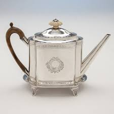Teapot To Robert David Hennell Henry Chawner George III Sterling Coffee And Tea Service