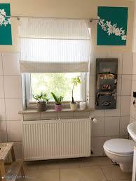 das selbstgenähte faltrollo im badzimmer war eine kleine odyssee