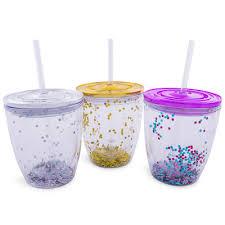 13oz Glitter Sipper Drink Cup