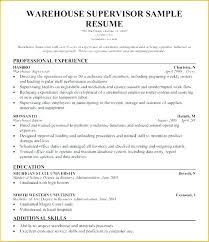 Warehouse Worker Resume Examples Example Of General