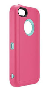 OtterBox Defender Series iPhone 5c Case Pink Aqua Check Back